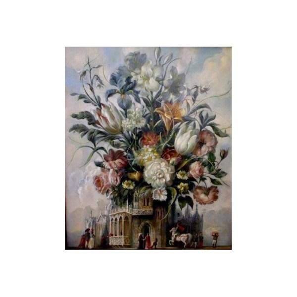 Elena Flerova - Flowers Of Joy Jewish Art Oil Painting