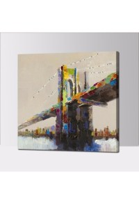 Abstract Bridge - Hand-Painted Modern Home decor wall art ...