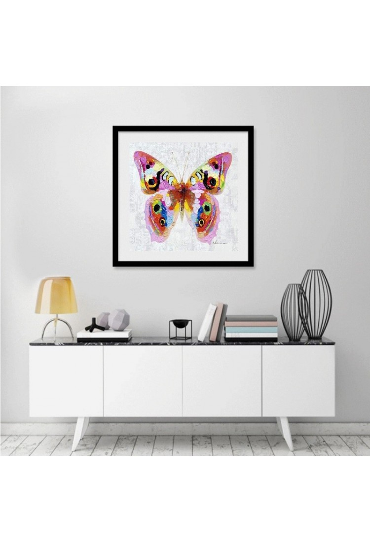 Colorful Butterfly - Hand-Painted Modern Home decor wall ...