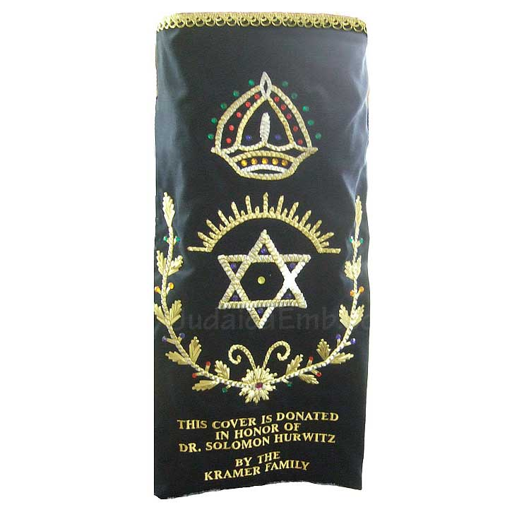 Mantle torah scroll  Star of David Torah Mantle M224