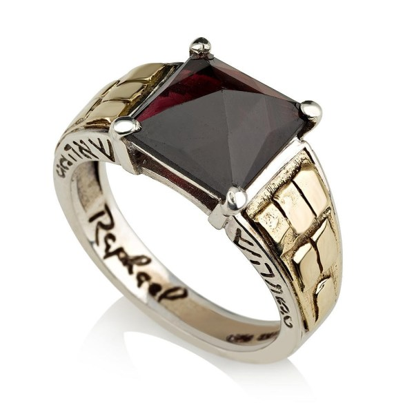 Sterling Silver And Gold Aaron Priest Ring With Rose