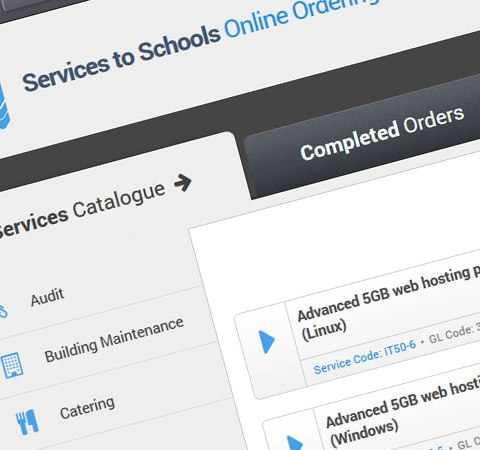 services to schools portal web design