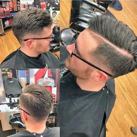 Mens-Haircut-Hard-Part-Low-Fade-Judes-Barber-Shop-East-Beltline-3
