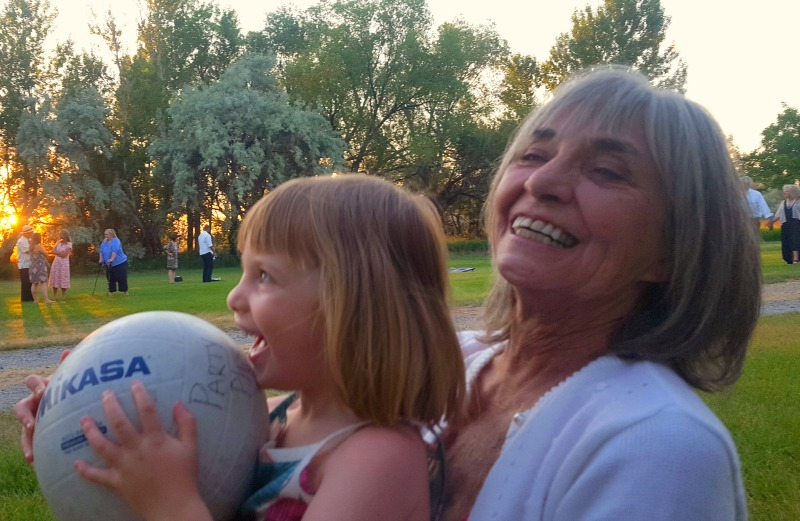 Judy and her neice having an Inspirational moment