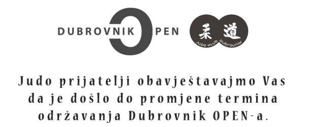 Novi termin Dubrovnik OPEN-a