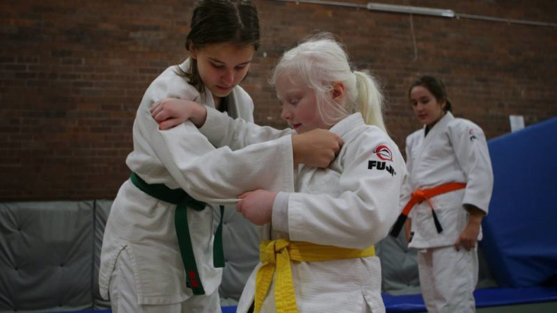Sutherland Judo Club's Sophie Weaver graded to yellow belt