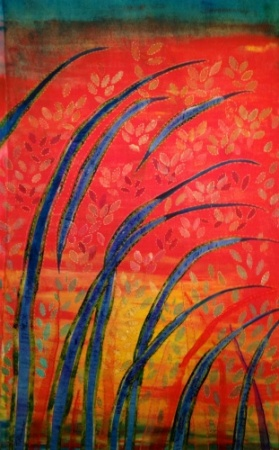 Reeds on Red