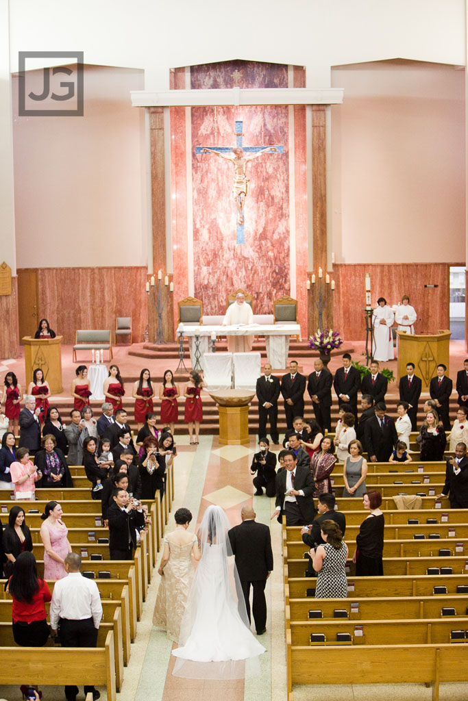 Our Lady of Refuge  Long Beach  JG Wedding Photography