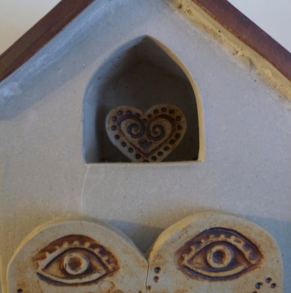 ceramic house heart