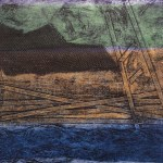 'Border Zones' collagraph monoprint with chine collé