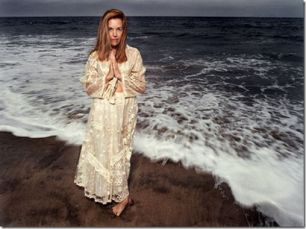 Judy Hevenly, psychic, at ocean shore