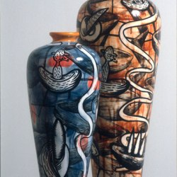 Dream Series, Painted Ceramic, 1998