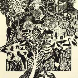 Edinburgh Gardens, 760 X 560 Mm, Silkscreen Print, 2014