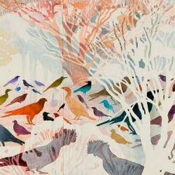 Wrens, 600 X 2160 Mm, Watercolour On Paper , 2010