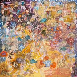 Yirridtja Owns Yellow, 570 X 570mm, Watercolour On Paper, 2015
