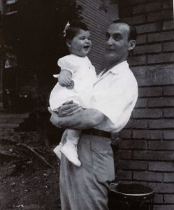 Dad holding Donna