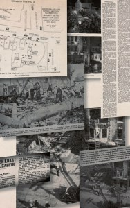 Newpaper clippings and photos of the crash, January 22, 1952