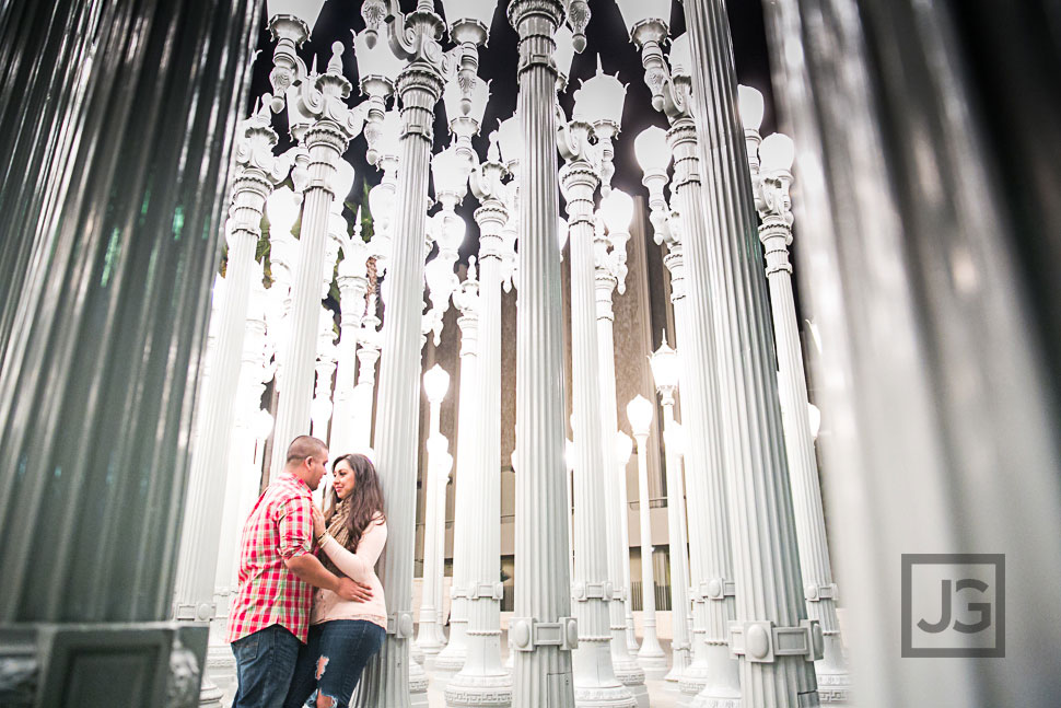 Santa Monica  Downtown Los Angeles Engagement Photography  Cynthia  Milton  JG Wedding