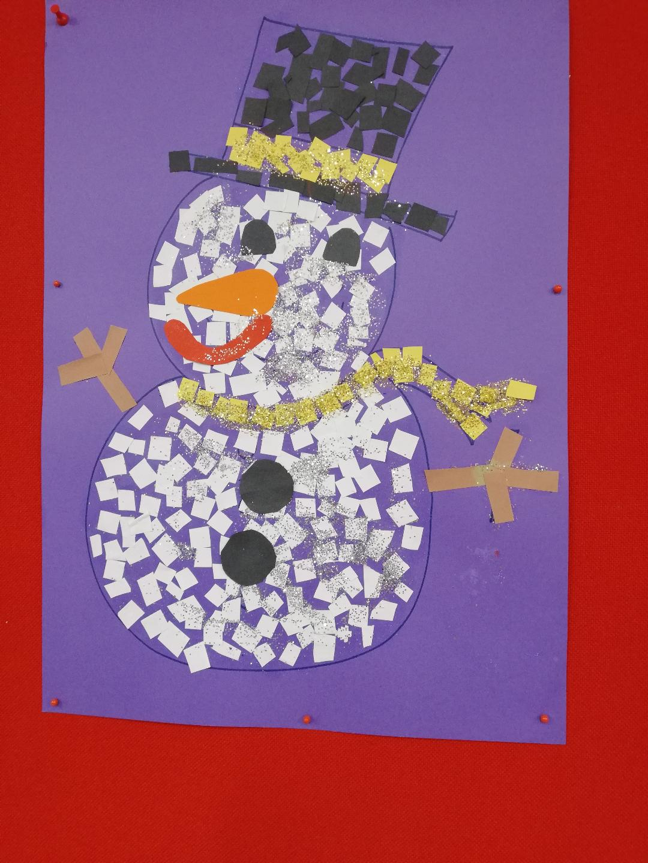 Muñeco de nieve, actividad de Navidad