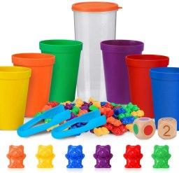 Juego de los Ositos, juego para contar objetos, trabajar los colores y hacer series.