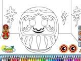 Daruma coloring