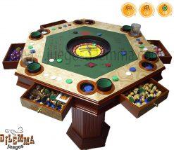 Mesa de juegos hexagonal