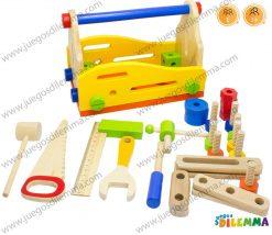 caja didactica herramientas en madera