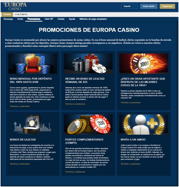 Bonos de Casinos en casino europa