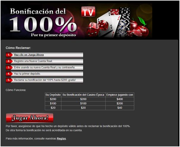 Casino Epoca- promociones