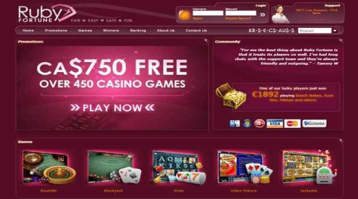 Club de fidelidad Ruby Casino