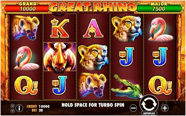 Gran juego de tragamonedas con jackpot de Rhino