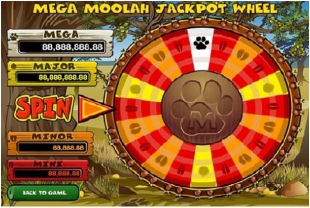 Juego de tragamonedas Mega Moolah Jackpot Wheel