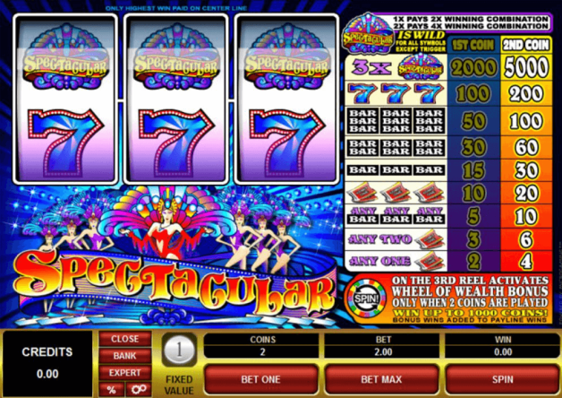 Spectacular slots