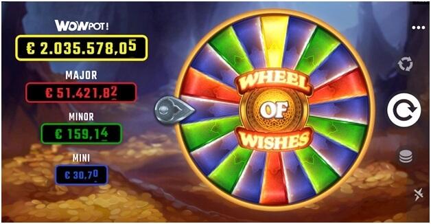 Rueda de deseos juego de tragamonedas con jackpot