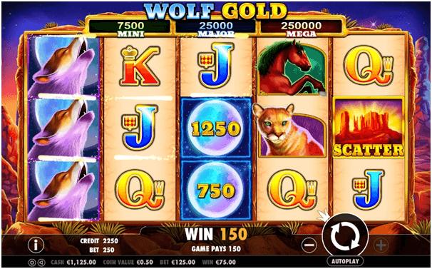 Tragamonedas con jackpot Wolf Gold