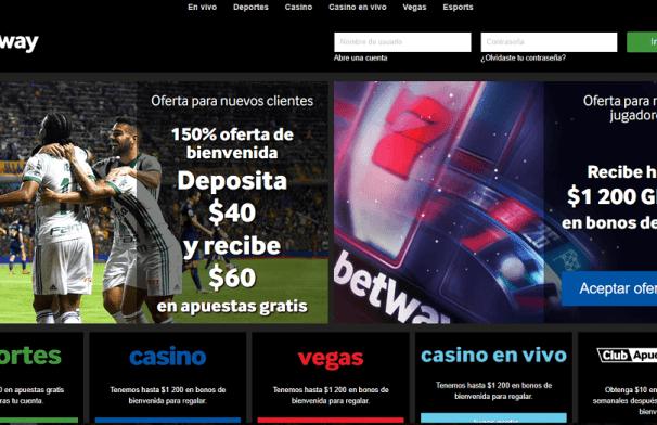 Betway Chile - deposita $40 y recibe $60 de bono