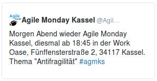 Agile Monday Kassel auf Twitter