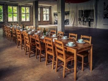 Speisesaal der italienischen Mannschaft