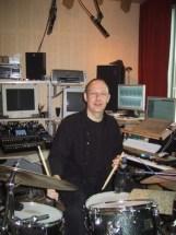 jürgen on drums im ton ab studio