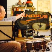 Jürgen Peiffer mit Canopus Snare