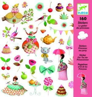 Djeco-stickers-prinses-thee-partijtje