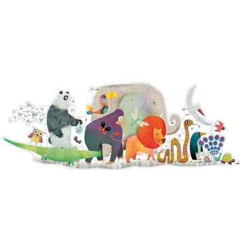 Djeco-vloerpuzzel-dierenparade