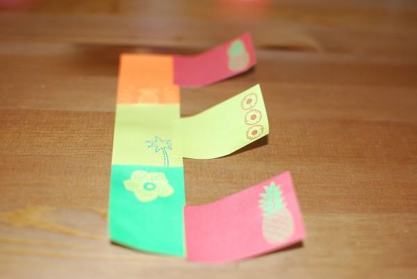 Letter van sticky notes