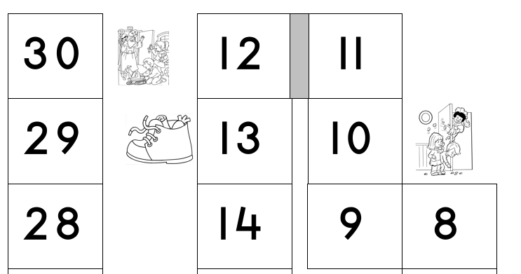 Bordspel Sinterklaas met cijfers