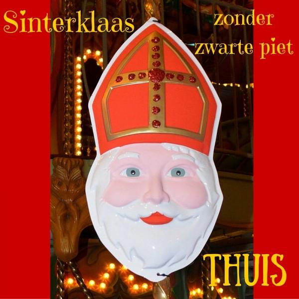 Sinterklaas zonder zwarte piet thuis