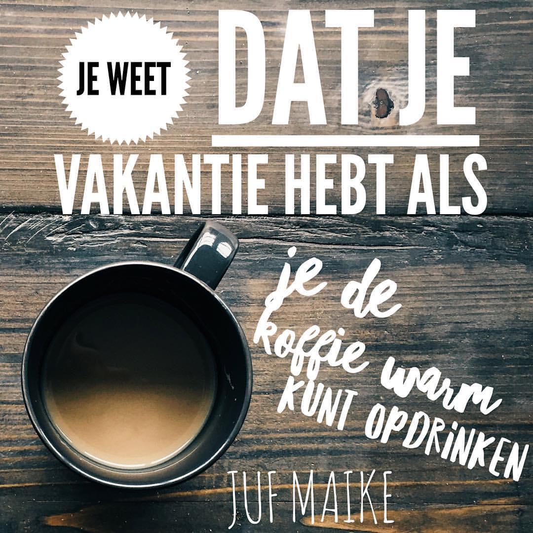 Koffie warm drinken leerkracht
