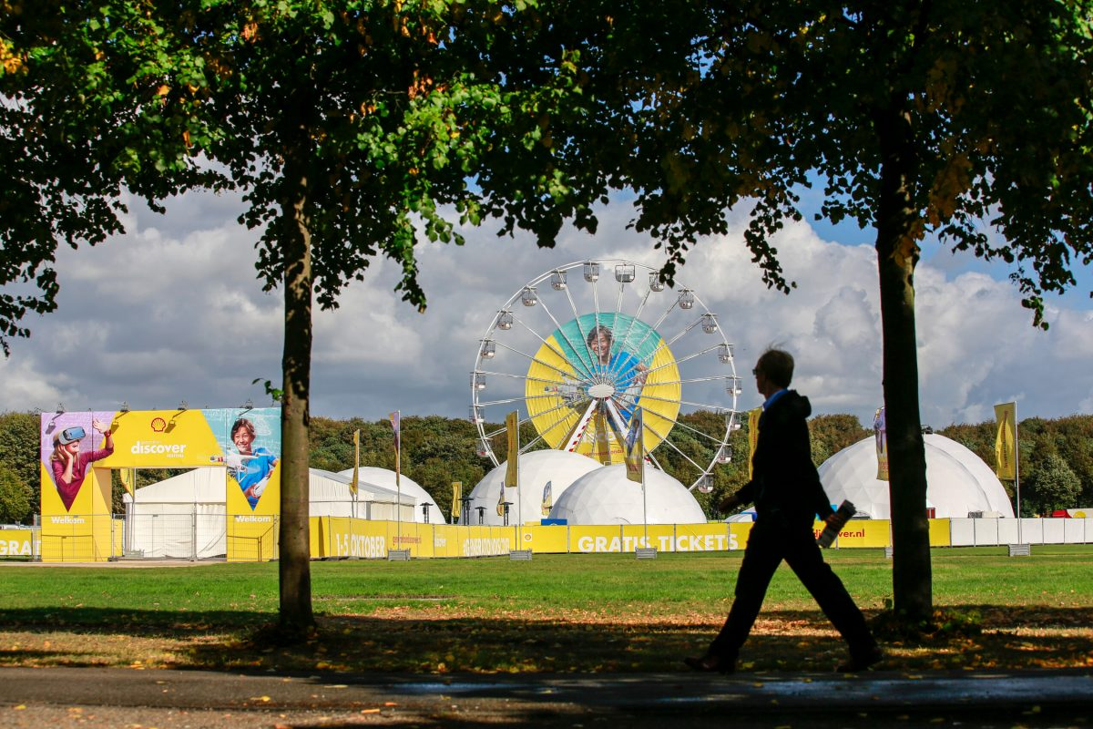 View of the venue of Generation Discover festival at Malieveld in The Hague, Netherlands, 2016 Jiri Buller/AP images for Shell.