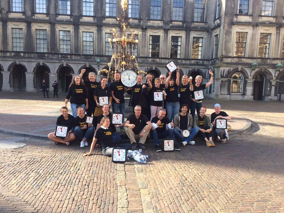 Staken op het Binnenhof