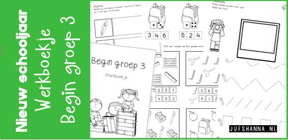 Nieuw Nieuw schooljaar | Werkboekje voor begin groep 3 - neutraal - Juf DI-04