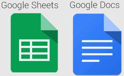 Google-Sheets-and-Docs